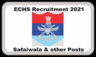 ECHS Jobs Notification 2021