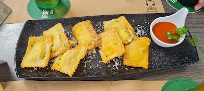 Nachos de pasta rellena - Cesare