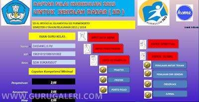 Penilaian SD Kurtilas Excel