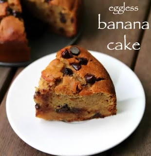 Eggless Banana Cake Recipe