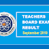 September 2019 Teachers Board Exam Result - Elementary and Secondary Level