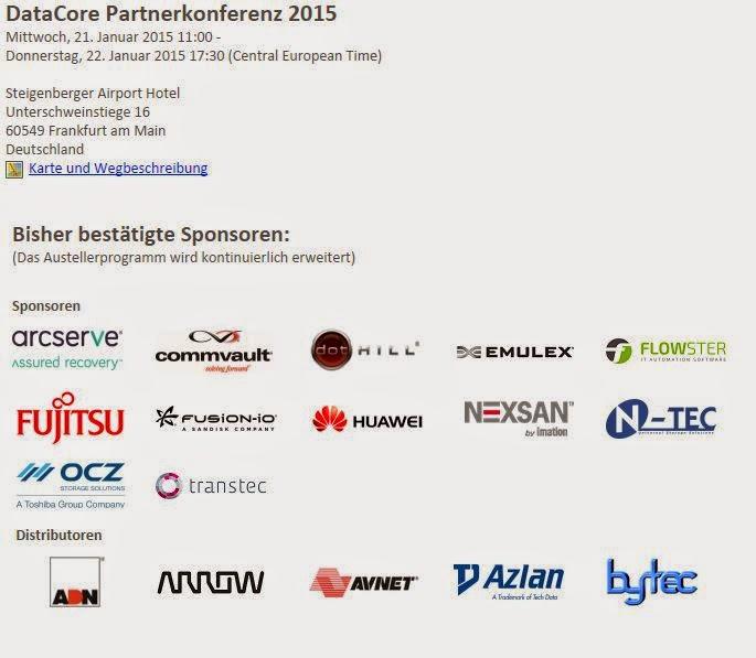 DataCore Partnerkonferenz ; Am und Januar in Frankfurt ; Distributoren diskutieren über die Zukunft der IT