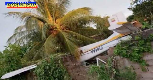 Avioneta utilizada para el narcotráfico se estrelló contra una casa en Maturín