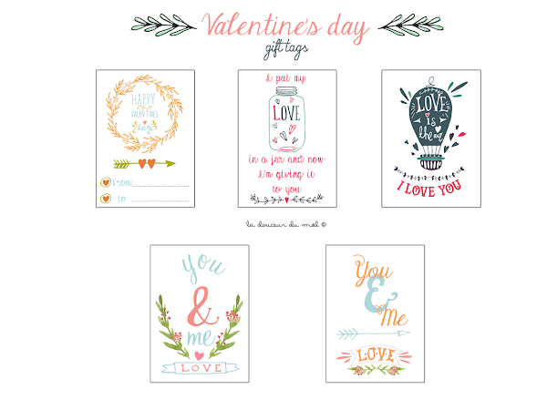Valentine's Day freebies - Printable gift tags -