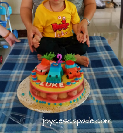 Birthday Cake Bring Blown