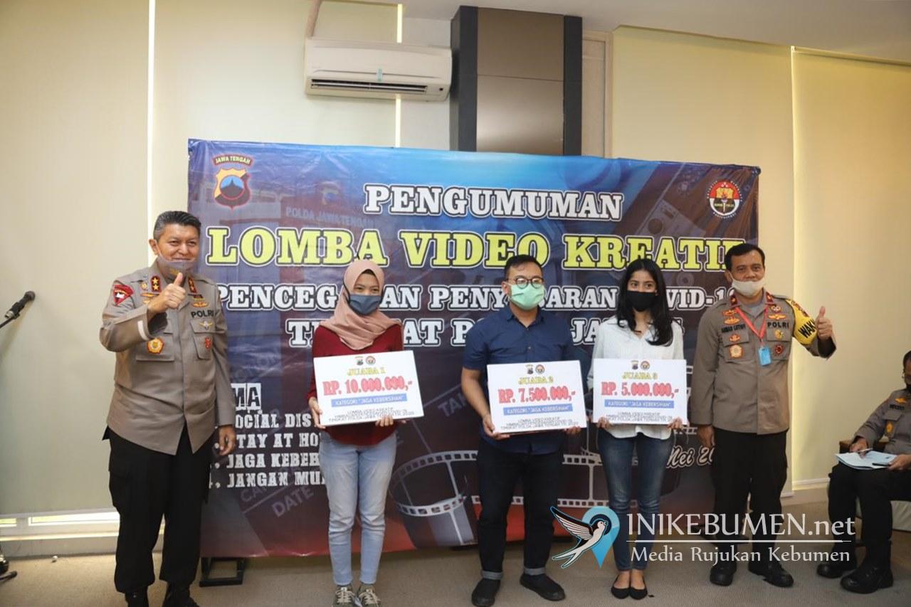 Neuma Studio Kebumen Juara Pertama Lomba Video Vlog Kapolda Jateng