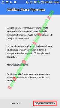 setting google now