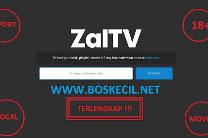 Kode ZalTV (Sport 18+ Lokal Movie) Terbaru September 2019 Terlengkap