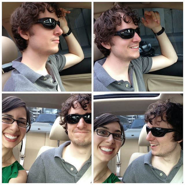 selfies in the car