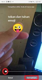 cara membuat emoji bergerak di instastory