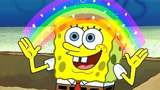 Polosan meme spongebob squarepants imajinasi