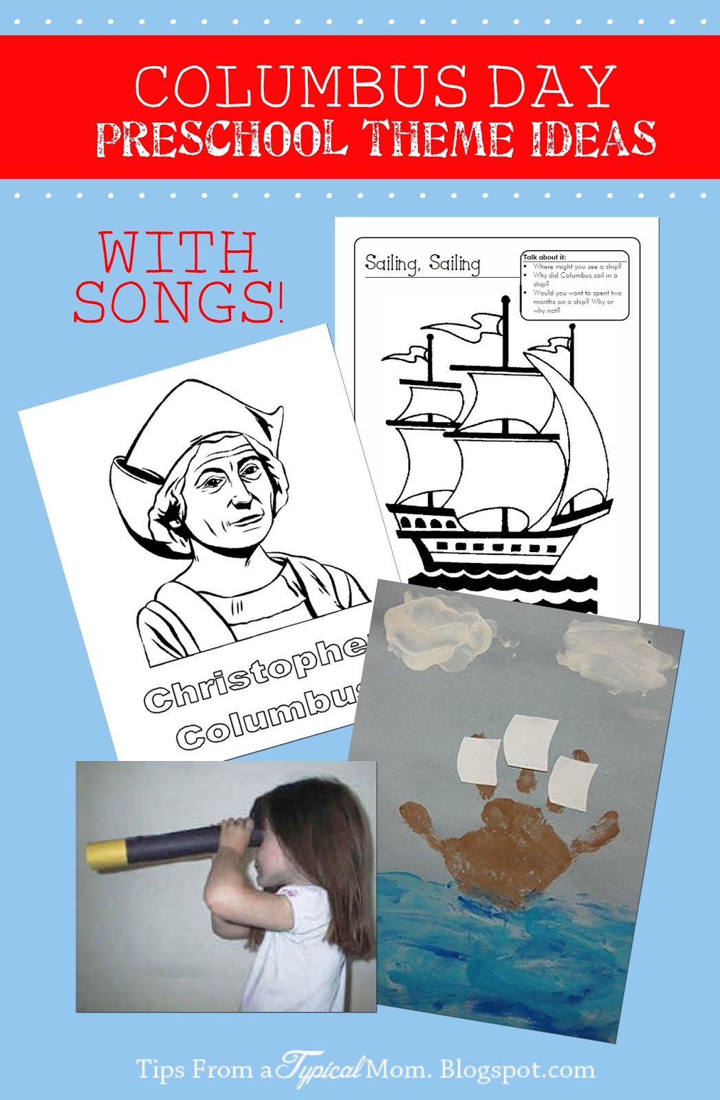 Youtube Easter Songs: Columbus Day Preschool Theme Ideas