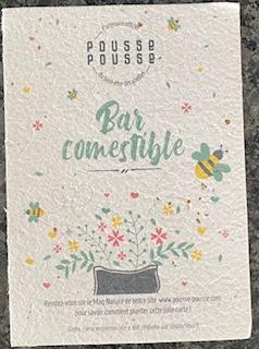 Carte à planter du coffret Pousse pousse mon potager de cusine