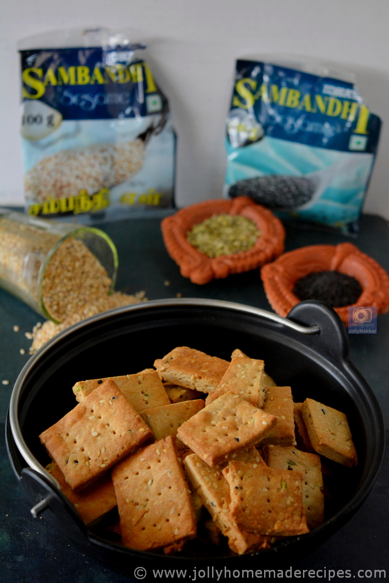 Sesame and Jaggery Wheat Crackers