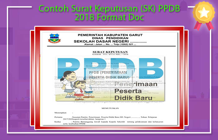 Contoh Surat Keputusan (SK) Tentang PPDB 2018 Format Doc