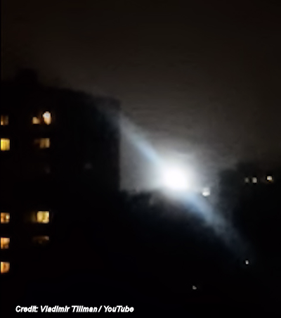 Huge Glowing' UFO Filmed Above Moscow Homes 10-3-16