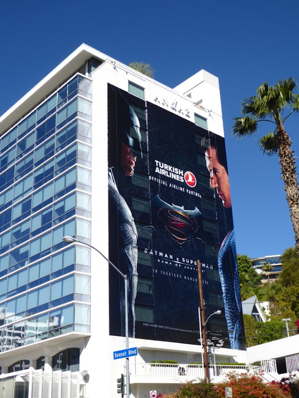 Batman v Superman Turkish Airlines billboard