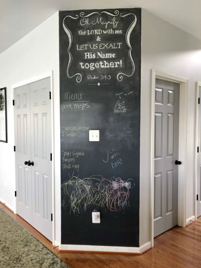 Chalkboard wall before
