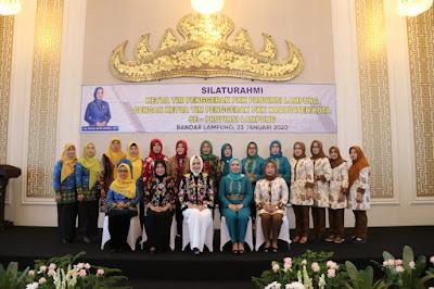 TP PKK Provinsi Lampung Jalin Silaturahmi Dengan TP PKK Se-Lampung