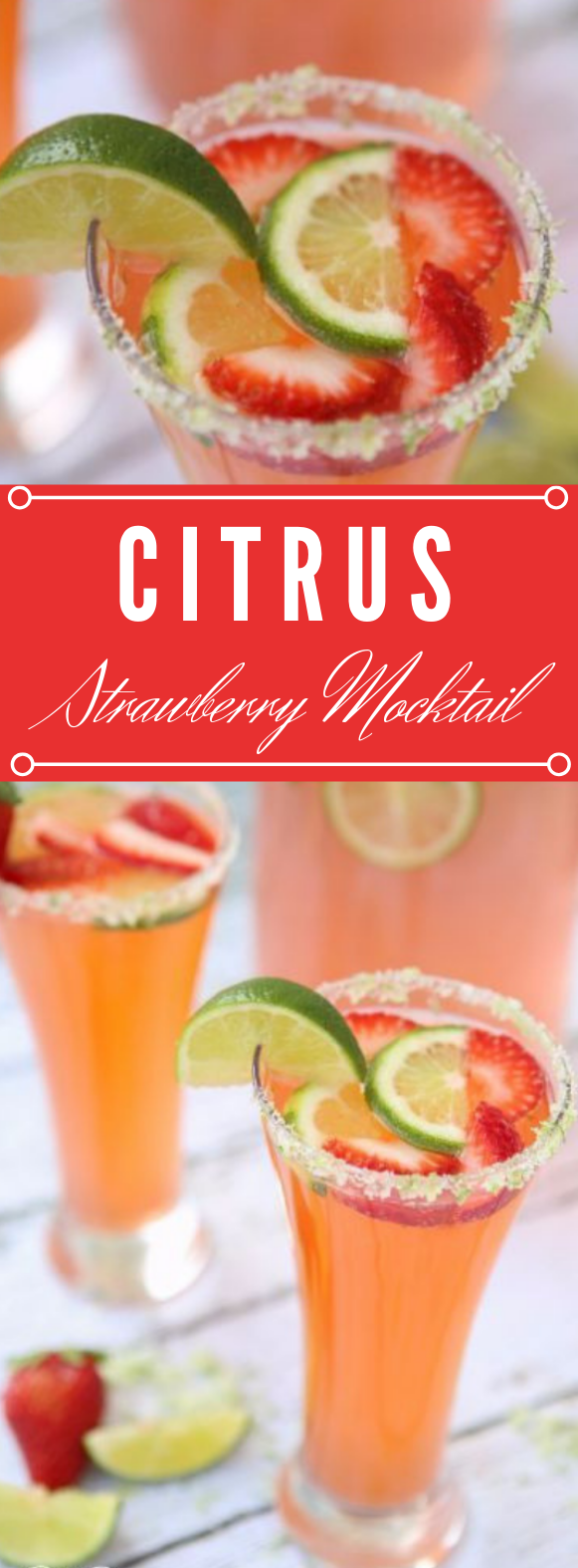 CITRUS STRAWBERRY MOCKTAIL #cocktail #strawberry #drink #strawberry #smoothie