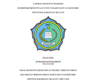 Contoh Laporan Praktik Kerja Instansi/Industri SMKN 1 Simpang Empat