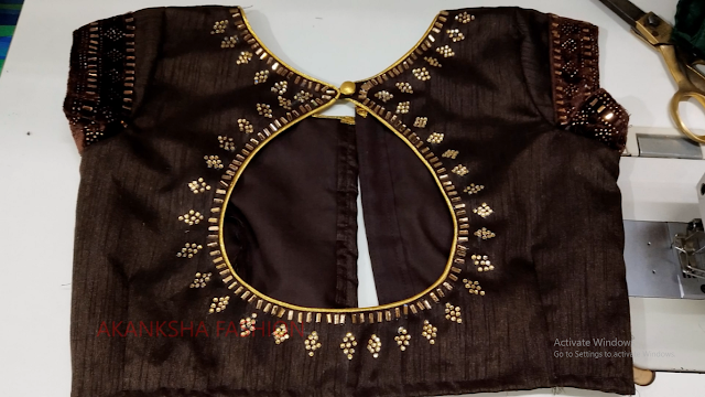 New blouse design cutting and stitching back neck