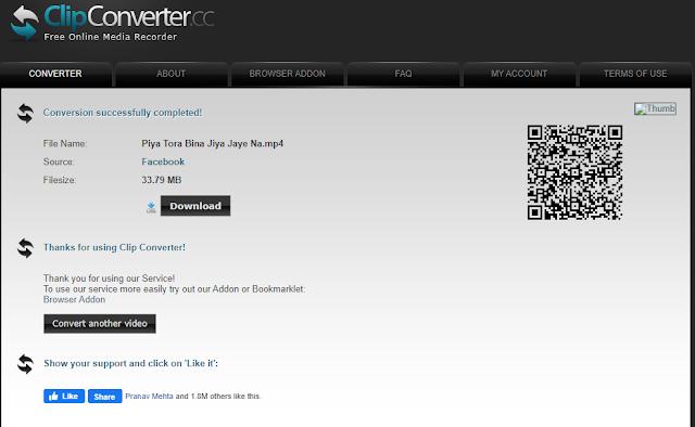 ClipConverter ব্যবহার ভিডিও ডাউনলোড করার পদ্ধতি