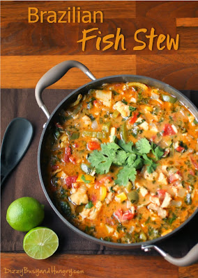 Brazilian Fish Stew, shared by Dizzy, Busy & Hungry at www.The-Chicken-Chick.com