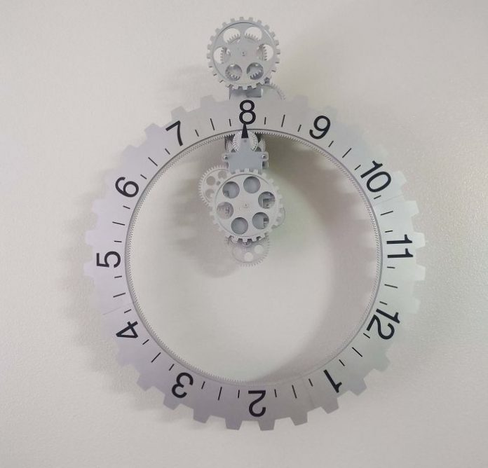 Unusual watch, where there is not a hand, but a dial.