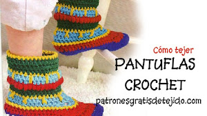 Cómo tejer unas lindas pantuflas a crochet