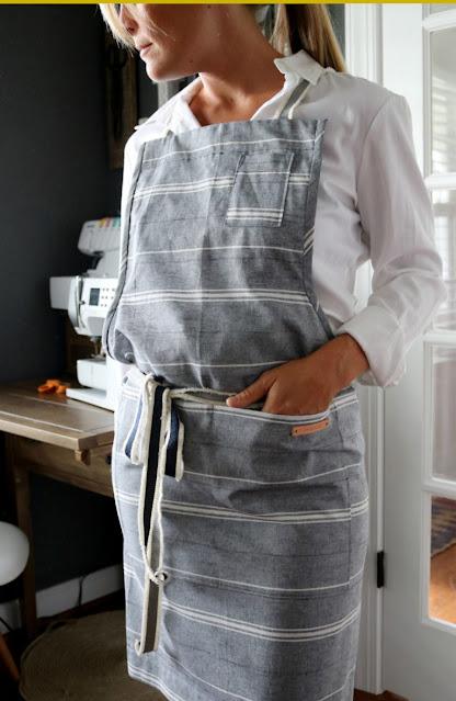 modern apron to sew