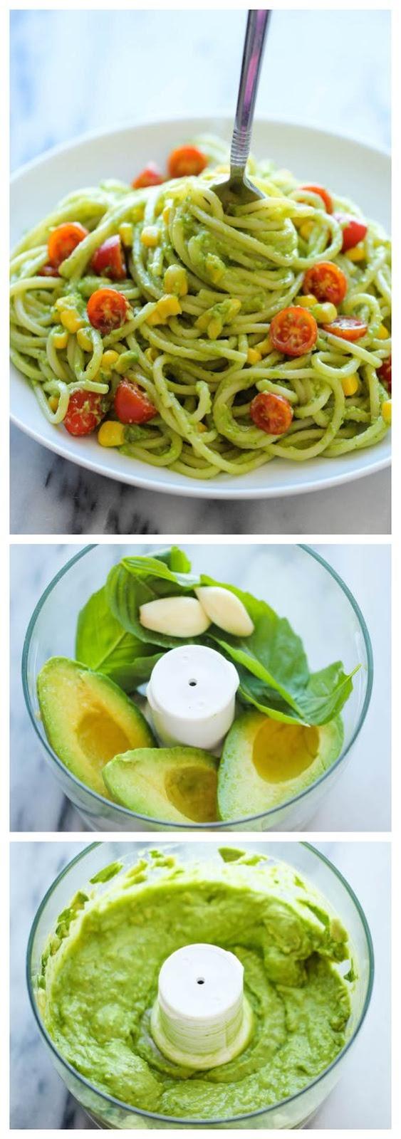 AVOCADO PASTA #avocado #pasta #pastarecipes #easypastarecipes #spaghetti