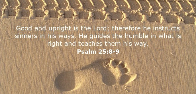 Good and upright is the Lord; therefore he instructs sinners in his ways. He guides the humble in what is right and teaches them his way.