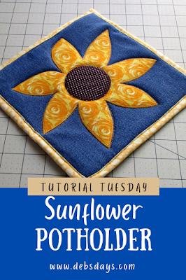 Sunflower Potholder Sewing Pattern