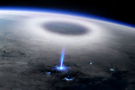 Jato Azul Atmosfera - Img