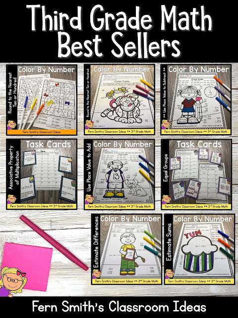 You can click on the link below to arrive at my TpT store already sorted for the grade level items you want for your class. Third Grade Go Math Best Sellers for Your Third Grade and Fourth Grade Students. #FernSmithsClassroomIdeas