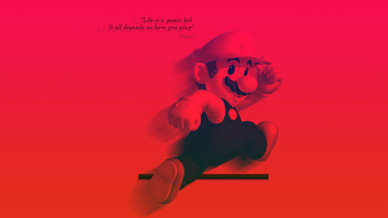 Life is a Game Mario -  Quad HD 1440p