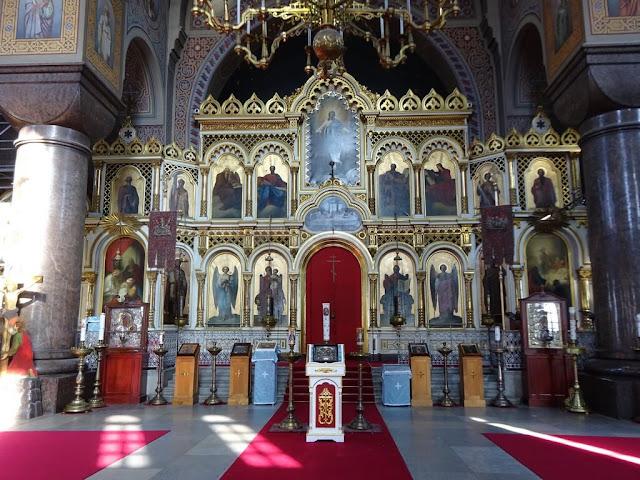 Interior da Catedral Uspenski (Uspenskin Katedraali) - Finlândia