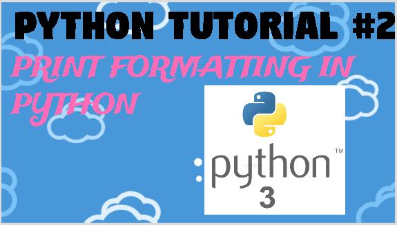 print formatting in python