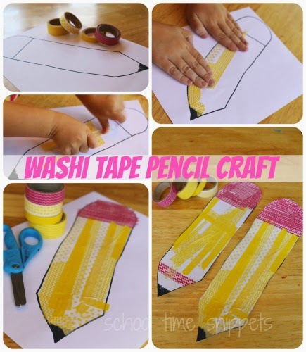 washi tape pencil craft