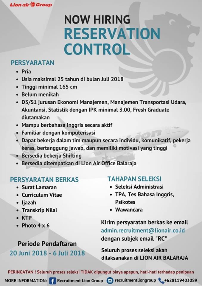 Lowongan Kerja Lion Air Juli 2018  Lowongan Kerja Terbaru
