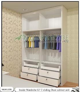 Dalam lemari minimalis sliding cabinet unit G7