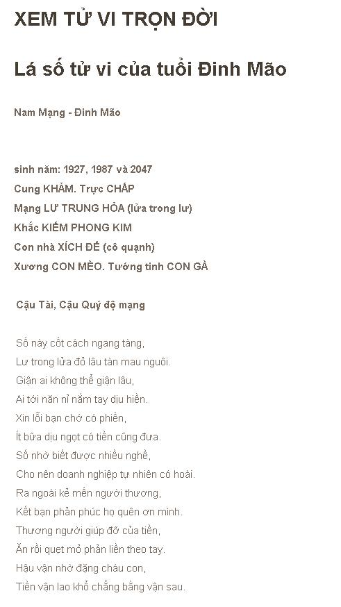 Tu Vi Tron Doi Dinh Mao 1987