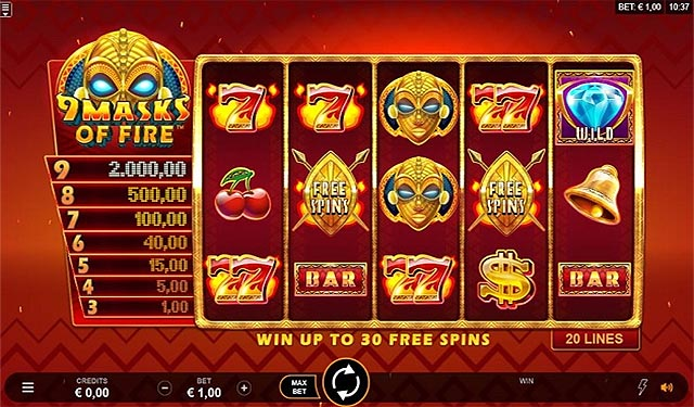 Ulasan Slot Microgaming Indonesia - 9 Masks of Fire Slot Online