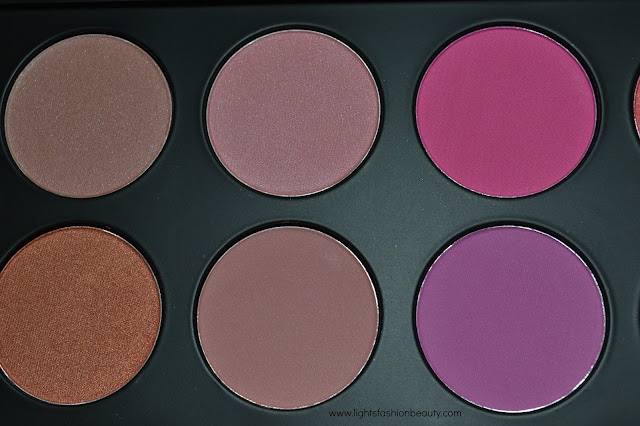 bh cosmetics, BH Cosmetics Glamorous Blush Palette, makeup, BH Cosmetics Glamorous Blush Palette swatches on dark skin, lightsfashionbeauty, canadian blogger, montreal blogger