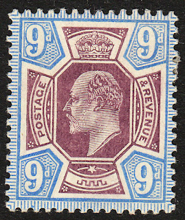 Edward VII 9d Dull Purple & Ultramarine
