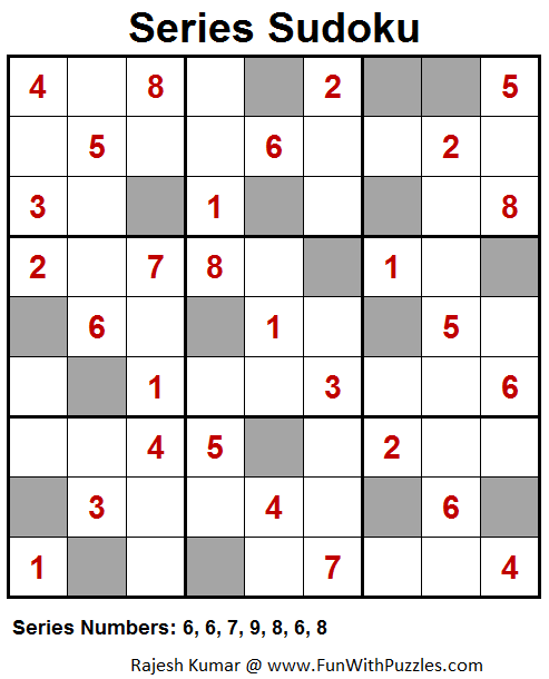 Series Sudoku Puzzle (Fun With Sudoku #38)