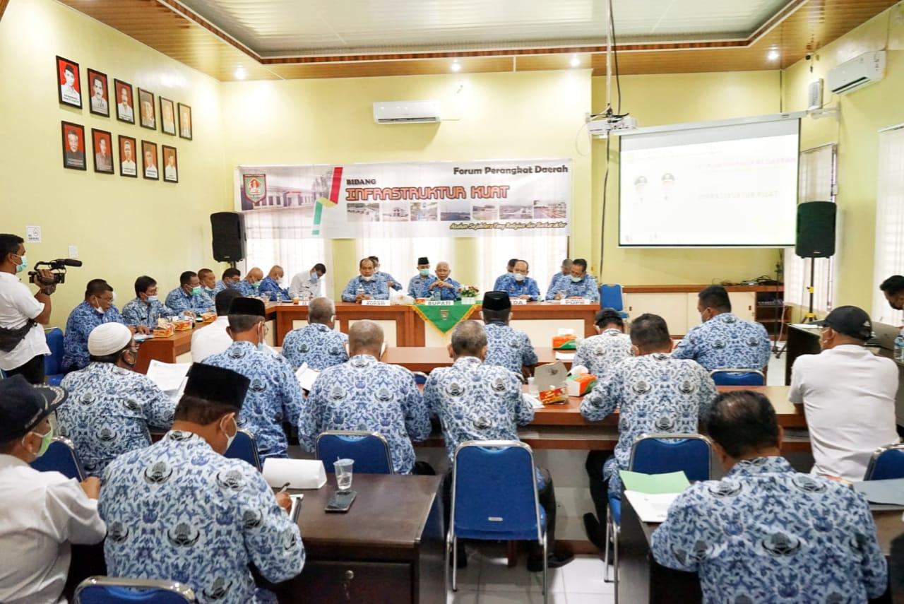 Bupati Asahan Membuka Kegiatan Forum OPD Kabupaten Asahan Tahun 2021
