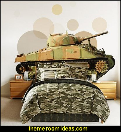 Military Tank  Wall Decal Sticker Camouflage bedding