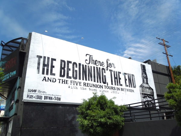 Jack Daniel's The Beginning The End billboard